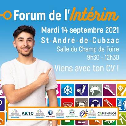 Forum de l'Interim le 14 Septembre 2021 à St André de Cubzac