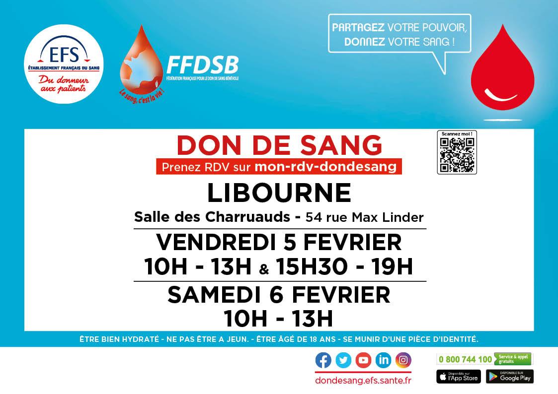 DON du SANG Mardi 19 janvier 2021 St Denis de Pile