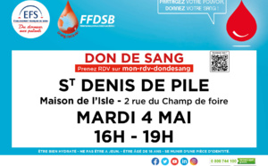 DON du SANG LIBOURNE Mardi 9 mars 15h-19h