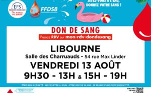 DON du SANG Libourne le vendredi 13 Aout