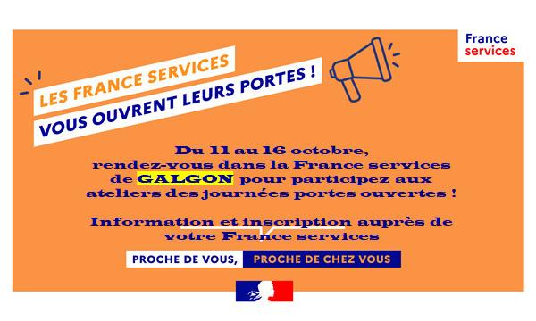 Journées Portes Ouvertes dans les France Services du 11 au 16 Octobre 2021